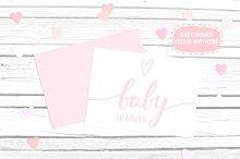 Baby Shower vector invitation