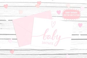Baby Shower vector invitation