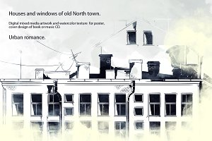 Houses and windows of old North town