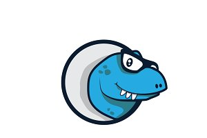 Dinosaur App Icon Vector