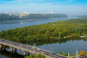 Skyline of Kyiv, Ukraine