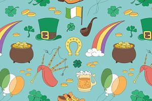 Saint Patricks Day pattern