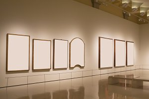 Blank frames in a gallery