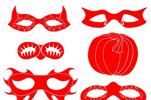 mask collection vector illustration