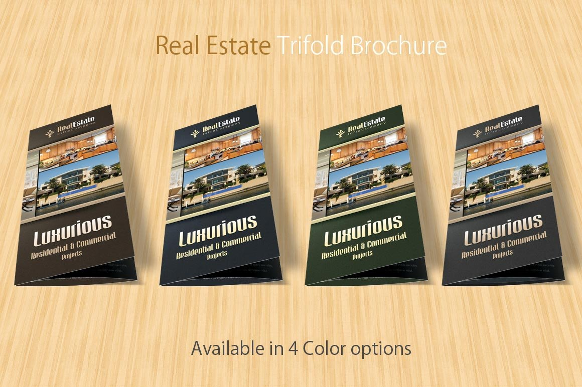real estate trifold brochure brochure templates creative market