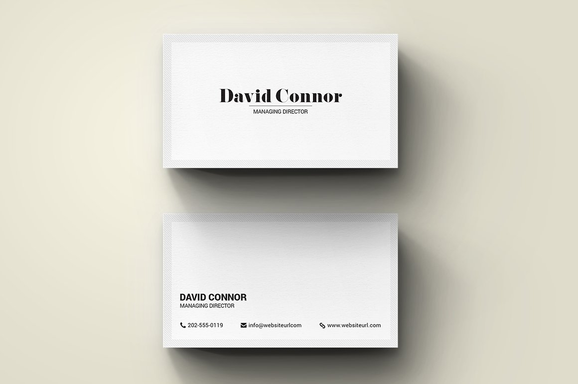 Simple Minimal Modern Business Card