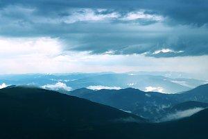 Carpathian Mountains aerial view