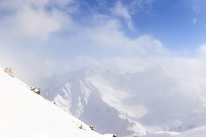 Caucasus mountains view, Russia