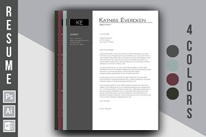 "Resume Template ""Katniss Everdeen"""