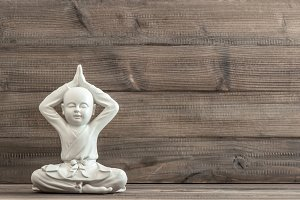 Sitting buddha. Meditation