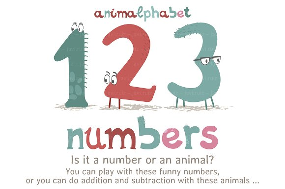 Animalphabet: numbers
