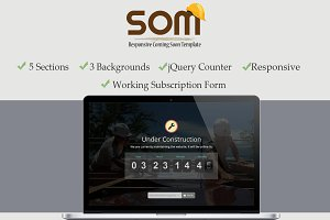 Responsive Coming Soon Theme