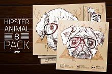 Hipster animals - set 2