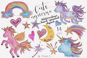 Unicorns Watercolor Set
