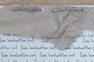 Quick handwritten font