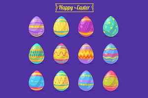 Happy Easter. Eggs collection