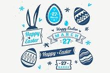 Happy Easter label set