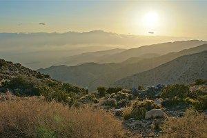 Layered Desert Mountains