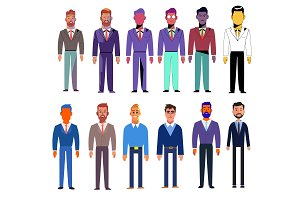 set of vector characters men