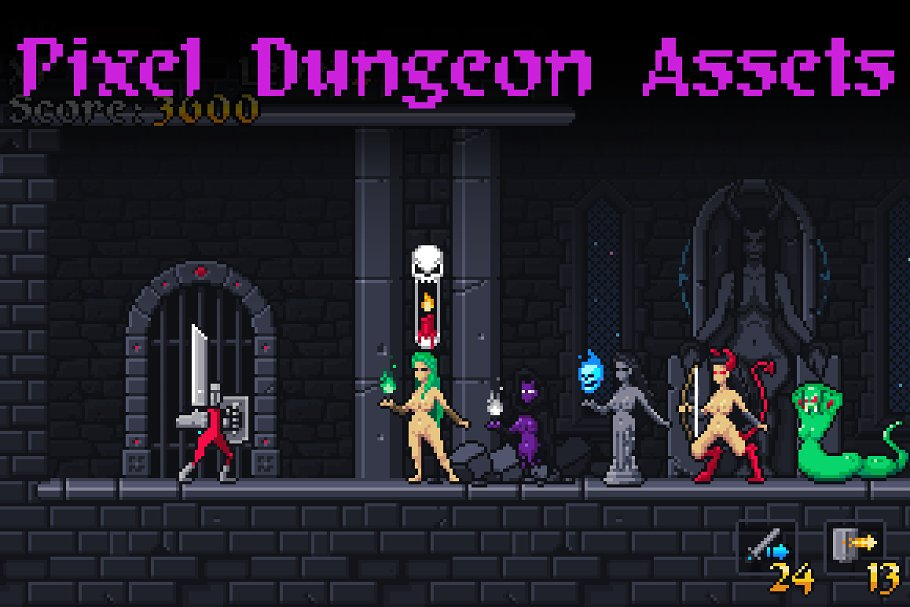 Pixel Dungeon Assets