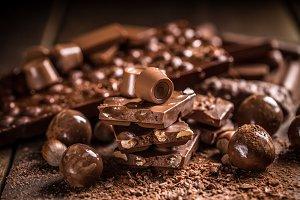 Tasty sweets chocolates