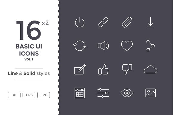 Basic Interface Icons #2