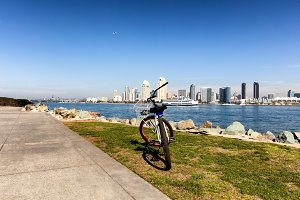 Biking by the Bay of San Diego
