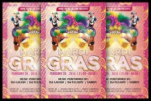 Mardi Gras Flyer  + FB Banner