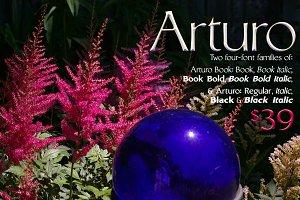Arturo Font Families: 8-fonts