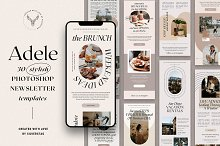 SALE - Adele - Newsletter Templates by  in Templates