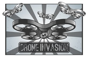 Drone vector illustration.