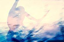 Man surfing in the ocean.