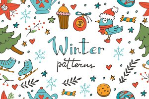 Winter set and patterns