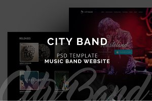 City Band - Music Band OnePage PSD