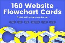 160 Website Flowchart Cards