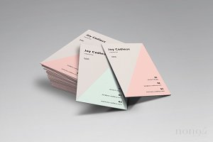 2 Triangle Business Cards • Joy