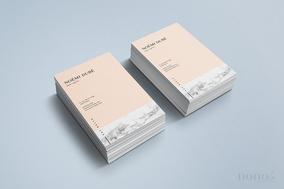 Marble business card nomi business card templates creative market colourmoves Image collections