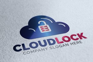 Cloud Lock Logo