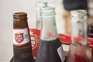 Bottles in a Sixer