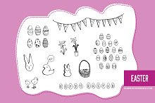 Hand Drawn Clipart - Easter