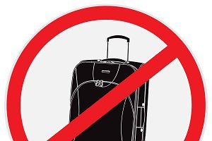 no luggage allowed sign