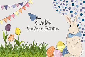 Easter Handdrawn Illustrations