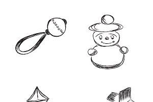 toys, sketch, icon