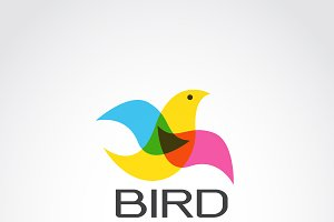 Vector image of bird design