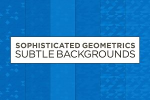 6 Subtle Geometric Backgrounds (blu)