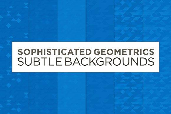 6 Subtle Geometric Backgrounds (blu) in Patterns