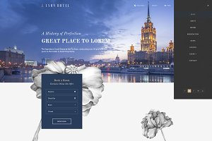 Lyon - Booking Hotel PSD Template