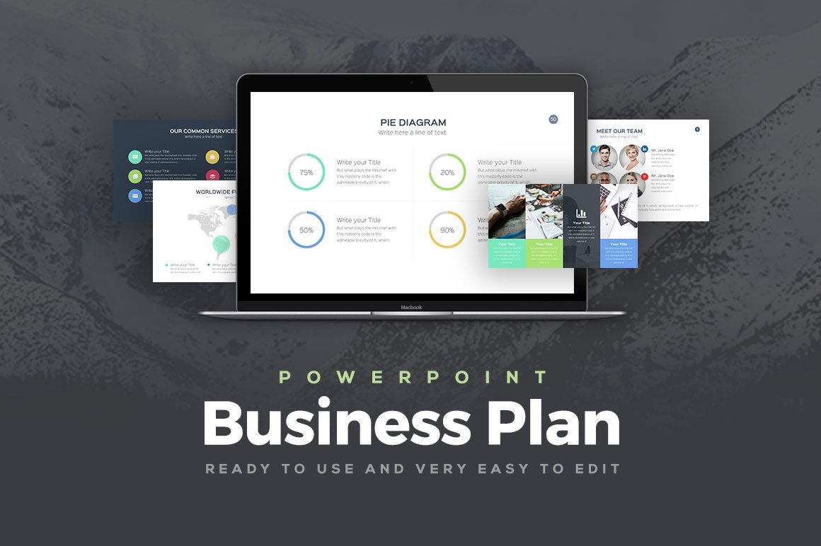 Business plan powerpoint template presentation templates business plan powerpoint template presentation templates creative market friedricerecipe Gallery