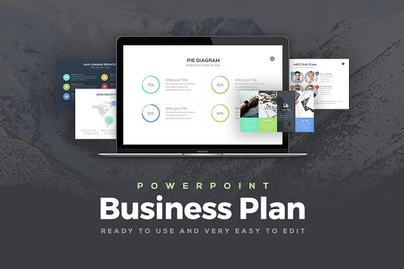 Business plan powerpoint template presentation templates business plan powerpoint template presentation templates creative market wajeb Image collections