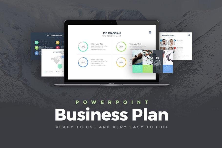 40da75de6 Business Plan Powerpoint Template ~ PowerPoint Templates ~ Creative ...